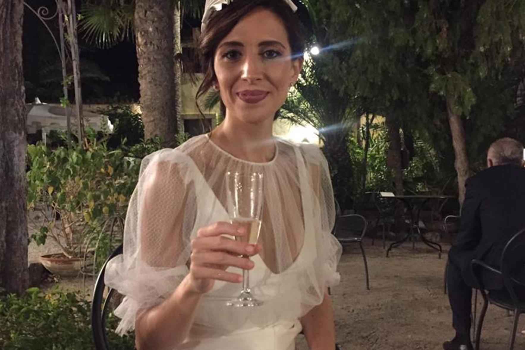 abito da sposa in mikado